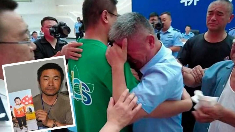 FOTO: pai localiza filho sequestrado depois de procurá-lo por 24 anos; confira reencontro emocionante