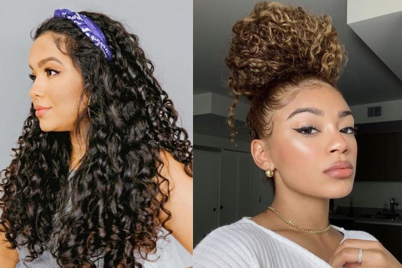 5 penteados lindos e fáceis de fazer para cabelos cacheados médios e longos; veja tutorial