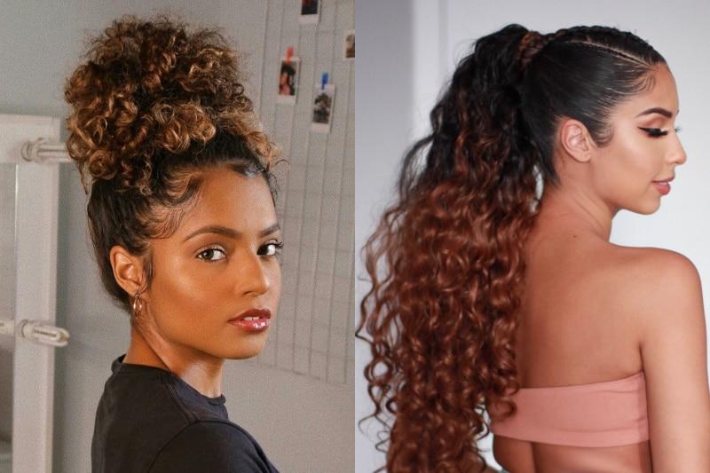3 penteados rápidos e fáceis de fazer para inovar esta semana se você tem o cabelo cacheado