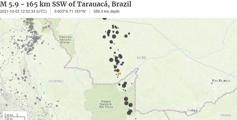Terremoto de 5,9 de magnitude é registrado no Acre